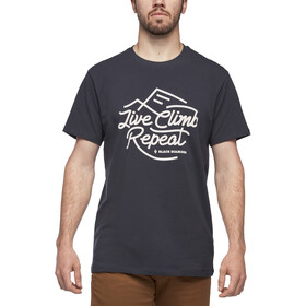Black Diamond Live Climb Repeat T-shirt Heren, eclipse